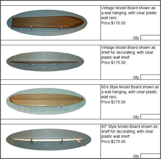 Order Form for Model Surfboards Page 2